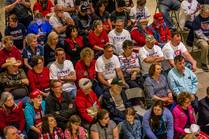 MARCH 4, 2017 - JEFFERSON CITY - President Trump Supporters Hold Rally, Jefferson City, State Capitol of Missouri stock photos