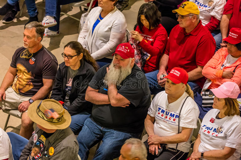 MARCH 4, 2017 - JEFFERSON CITY - President Trump Supporters Hold Rally, Jefferson City, State Capitol of Missouri royalty free stock images