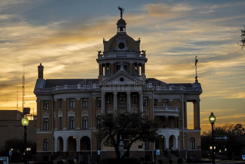 MARCH 6, 2018 - MARSHALL TEXAS - Marshall Texas Courthouse-Harrison County Courthouse, Marshall,. USA, landmark. MARCH 6, 2018 - MARSHALL TEXAS - Marshall Texas royalty free stock photo