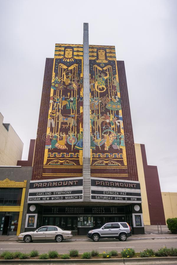 March 26, 2017 Oakland/CA/USA - Old Paramount theater in downtown Oakland, San Francisco bay area stock image