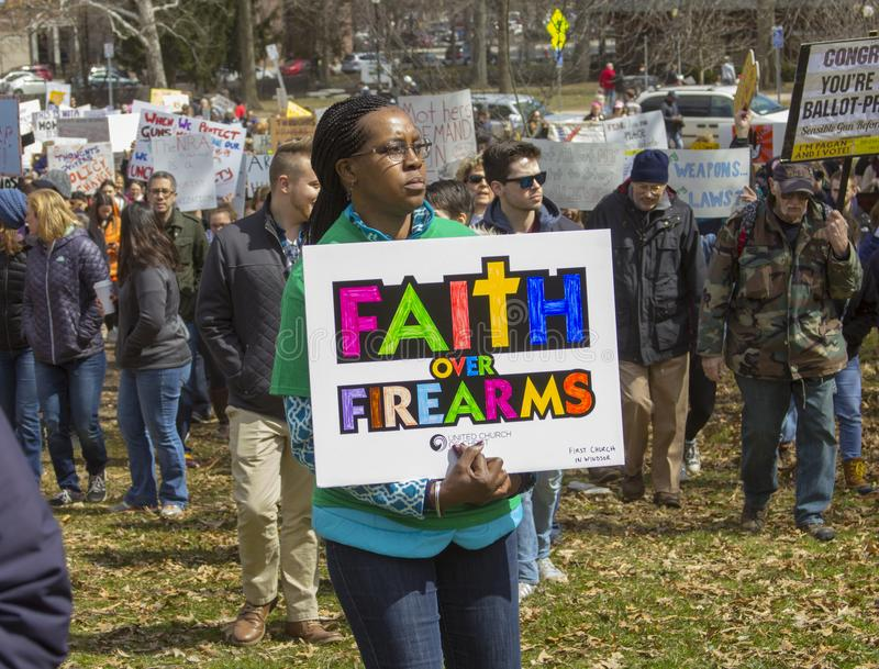 March for our Lives in Hartford Connecticut stock image