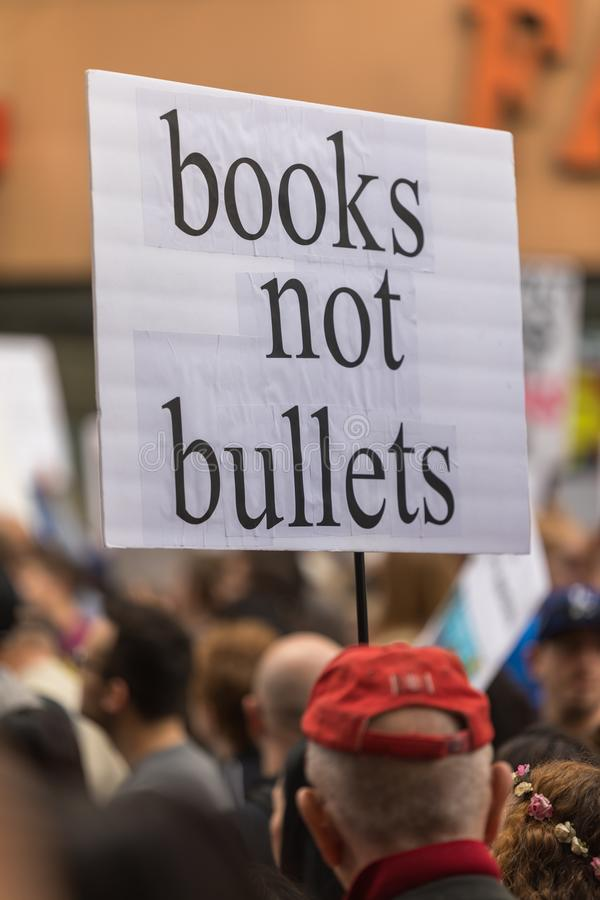 March For Our Lives Los Angeles stock photo
