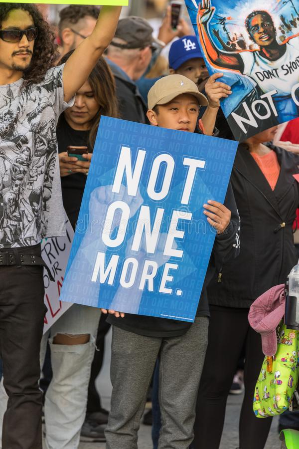 March For Our Lives Los Angeles stock image