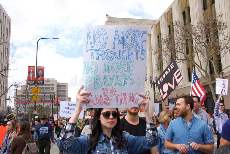 March for Our Lives Los Angeles Event royalty free stock photography