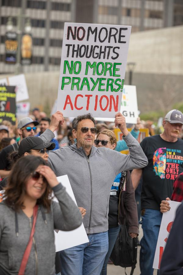 March For Our Lives Los Angeles royalty free stock image