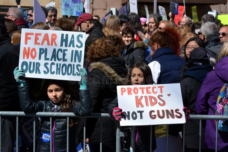 March for our Lives New York City stock images