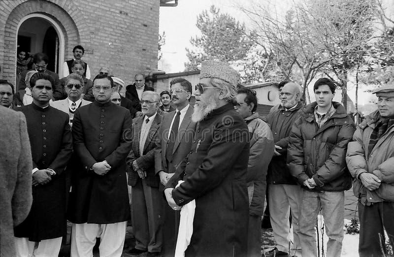 23 March Pakistans republic day celebration in Denmark. HELLERUP/COPENHAGEN/DENMARK. 23 Marchi 1996 _Asif Ezdi Pakistans ambassador to Denmark hoist Pakistans stock photos