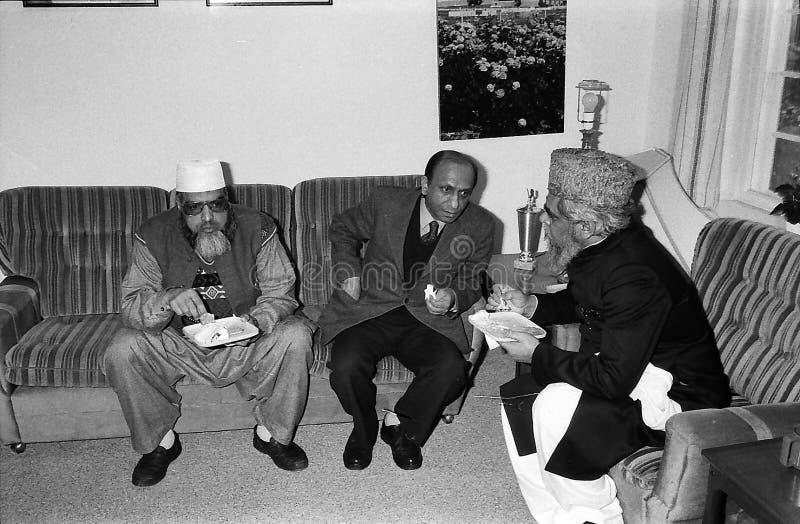 23 March Pakistans republic day celebration in Denmark. HELLERUP/COPENHAGEN/DENMARK. 23 Marchi 1996 _Asif Ezdi Pakistans ambassador to Denmark hoist Pakistans stock images