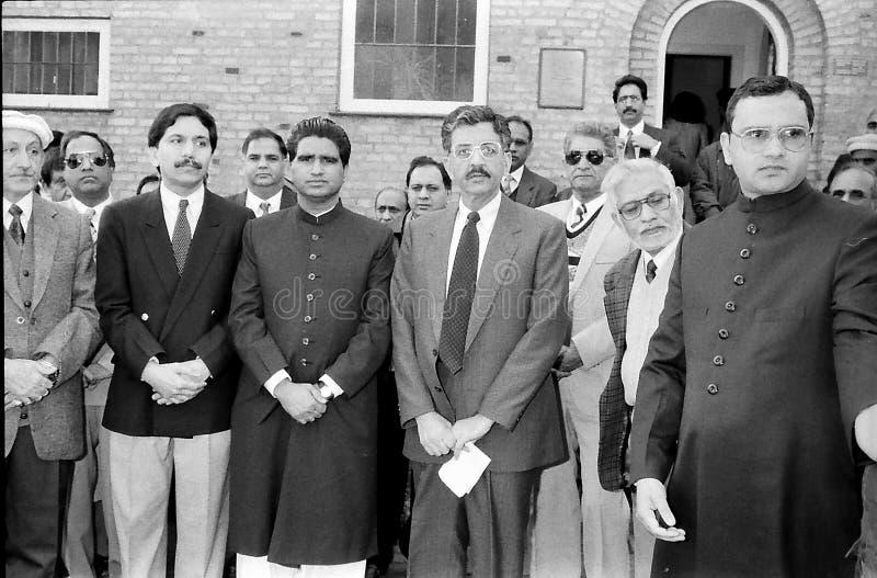 23 March Pakistans republic day celebration in Denmark. HELLERUP/COPENHAGEN/DENMARK. 23 Marchi 1996 _Asif Ezdi Pakistans ambassador to Denmark hoist Pakistans royalty free stock photo