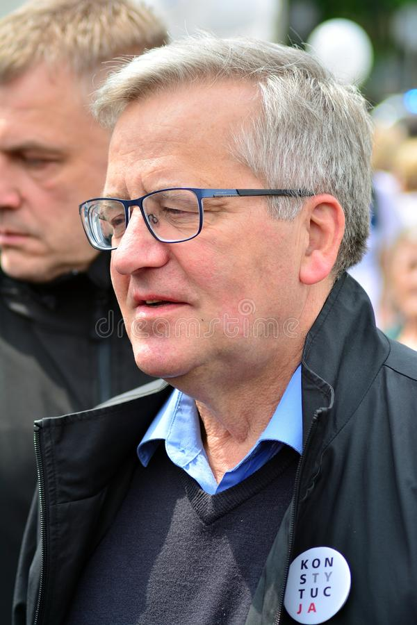 March `Poland in Europe`. Former Polish president Bronislaw Komorowski. royalty free stock photography