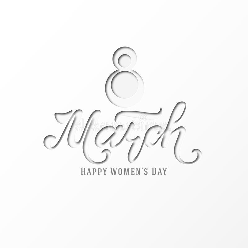 March 8. Postcard. Women`s Day. Paper cut holiday background. Lettering. Trendy design template. Happy mother`s day. Vector vector illustration