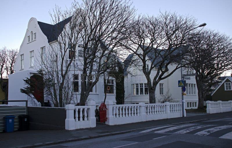March 19, 2014 - Reykjavik, Iceland. A typical Night Landscape of Reykjavik royalty free stock image