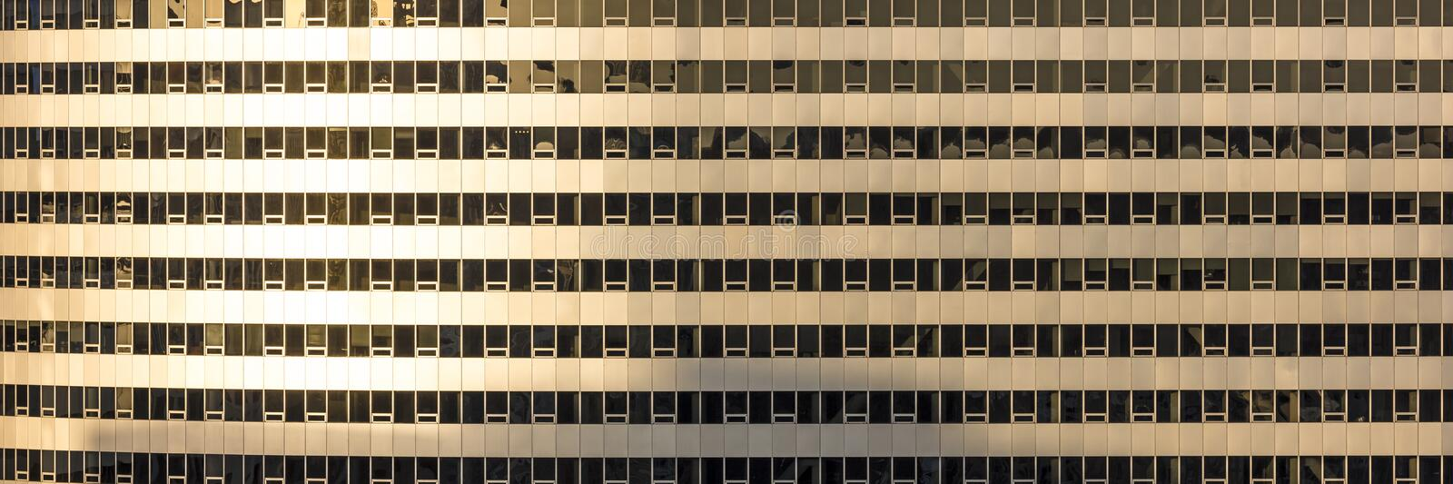 MARCH 26, 2018 - Rosslyn Twin Tower, former USA Today building, panoramic pattern of windows at. Skyline, morning stock image