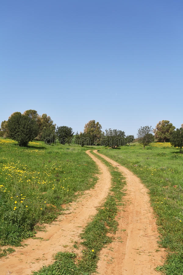 March, the rural dirt road