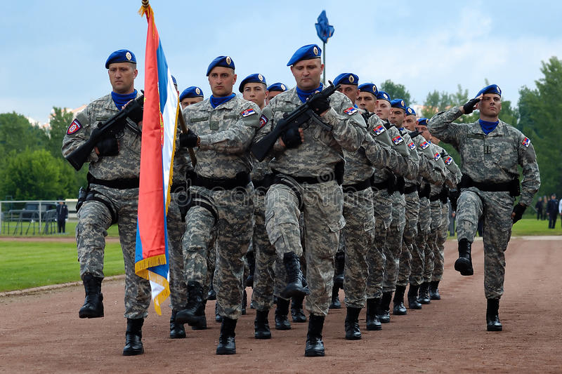 Download March Of Serbian Flag Unit Editorial Image - Image: 14435480