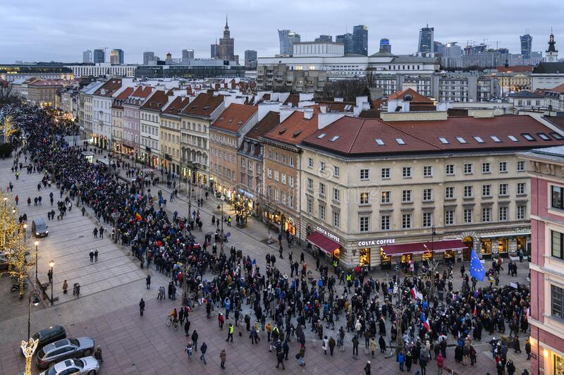 March of a Thousand Gown in Warsaw stock photography