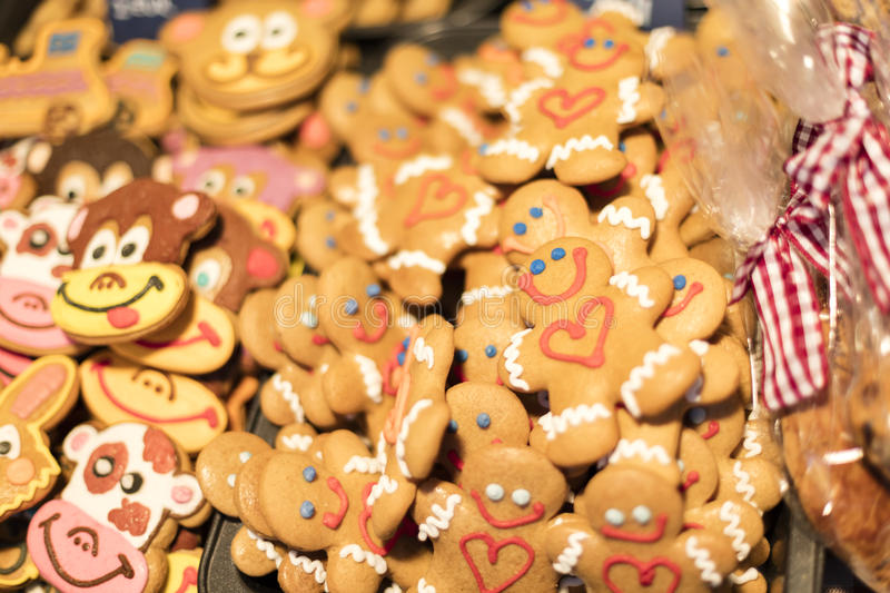 MARCH 25, 2016: Traditional gingerbread baked goods at traditional Easter markets on Old Towns Square in Prague. Czech republic stock photography