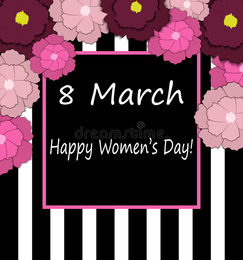 8 March. Vector card for International women`s day. vector illustration