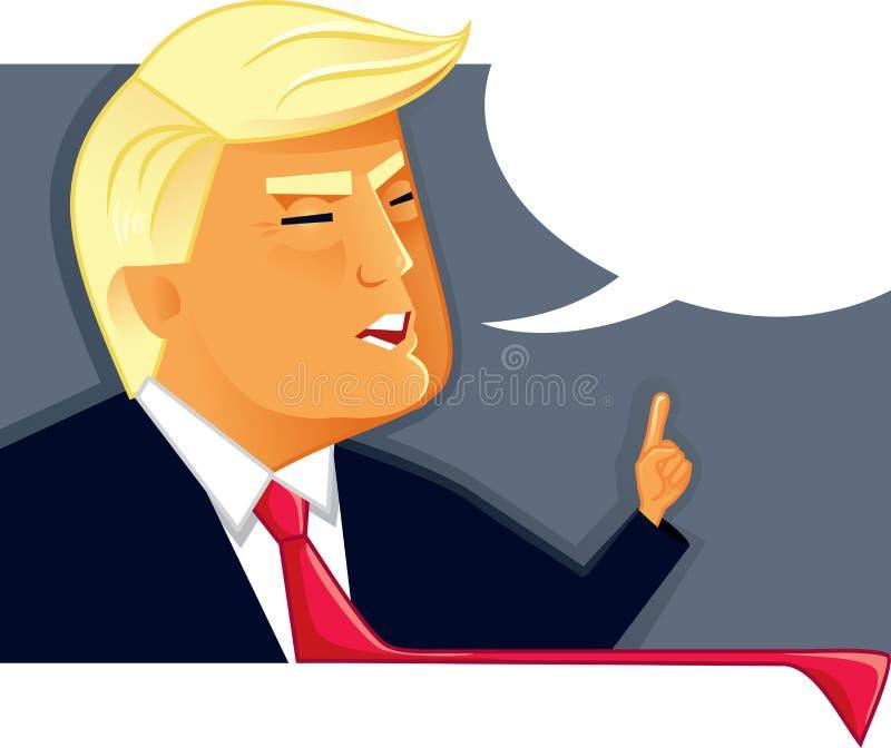 March 19, 2017 Vector Illustration of Donald Trump stock illustration