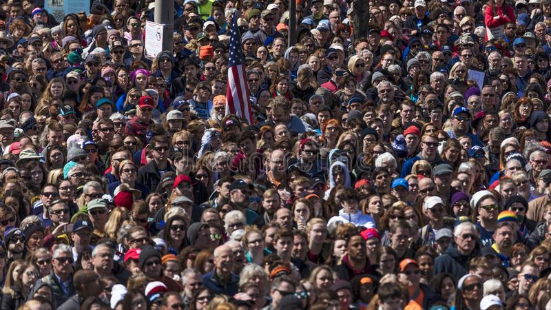 MARCH 24, 2018: Washington, D.C. Hundreds of thousands gather on Pennsylvania Avenue, NW in . States, control. MARCH 24, 2018: Washington, D.C. Hundreds of royalty free stock photography