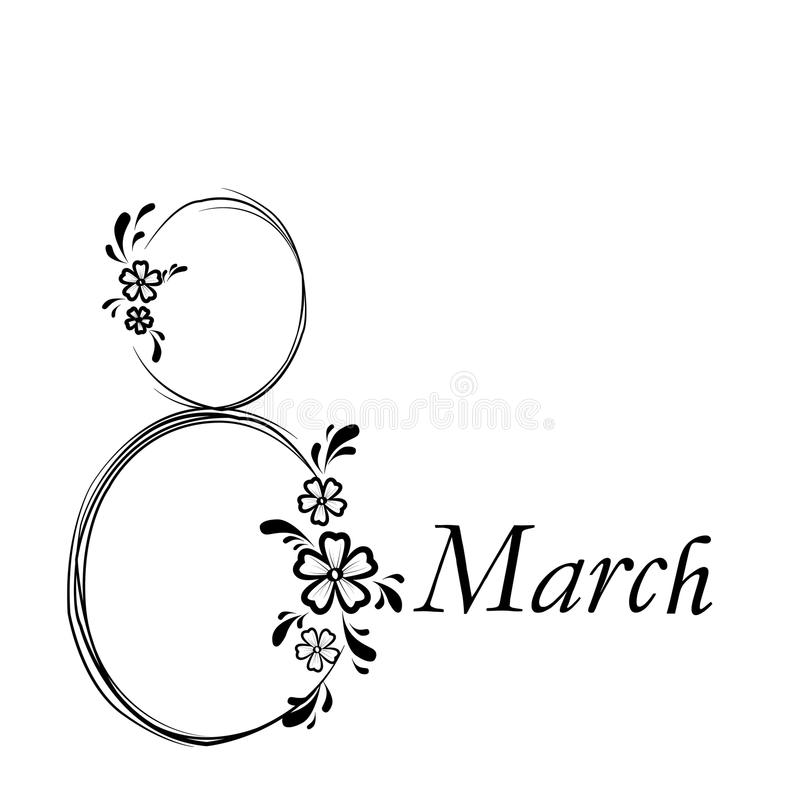 March 8 - Women's Day . stock photo
