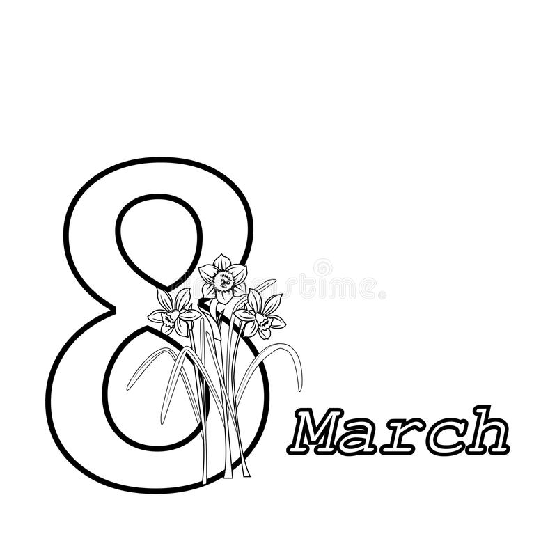 March 8 - Womens Day royalty free stock photo