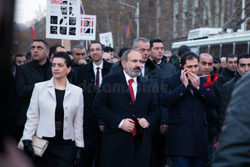 Marcha armenia imagenes de archivo