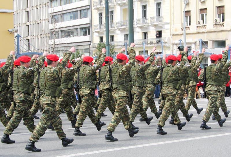 Marcha das forças especiais imagem de stock