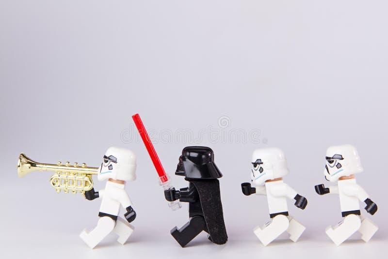 Marcha de las Guerras de las Galaxias de Lego fotos de archivo libres de regalías