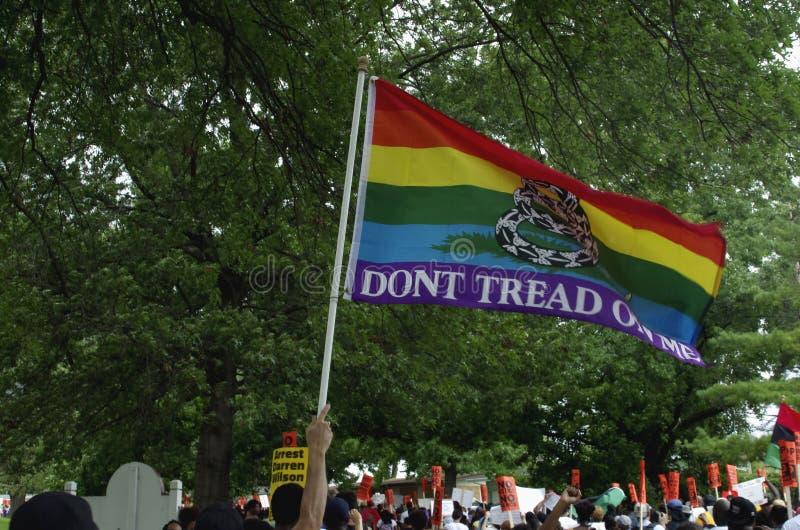 Marcha de paz para Michael Brown fotos de archivo