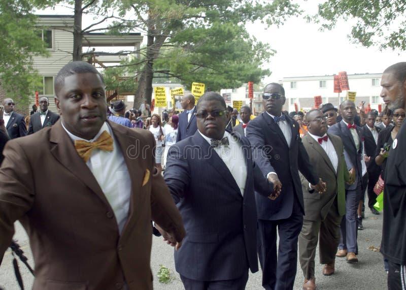 Marcha de paz para Michael Brown fotos de archivo libres de regalías