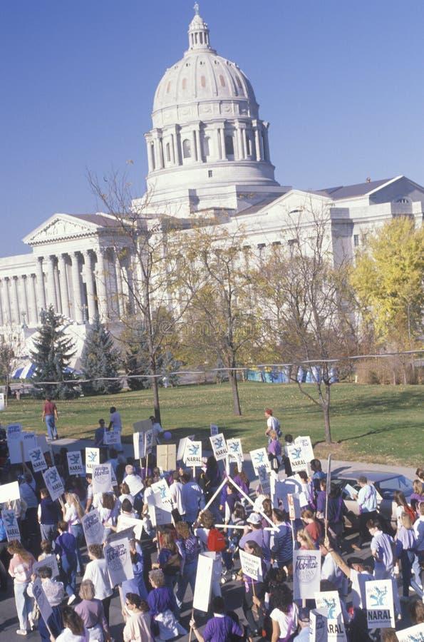 Marcha dos activistas foto de stock royalty free
