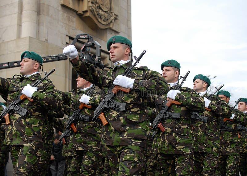 Marcha dos soldados foto de stock