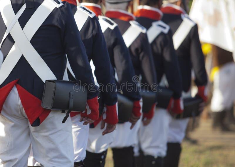 Marcha francesa do exército imagem de stock royalty free