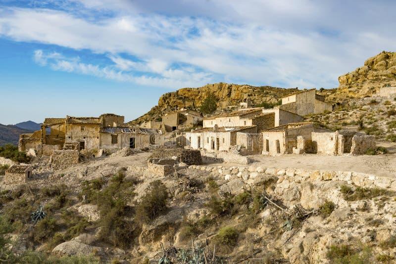 Marchalicos Vinicos Abandoned Village near Turre stock photography