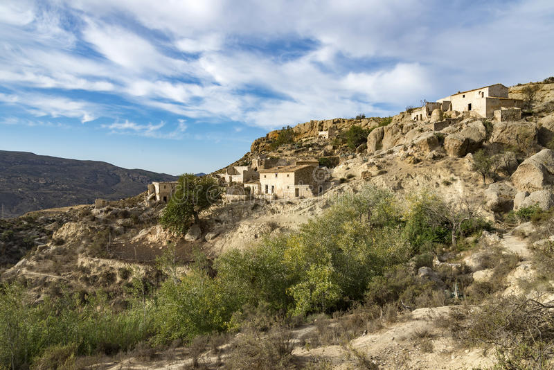 Marchalicos Vinicos Abandoned Village near Turre royalty free stock images