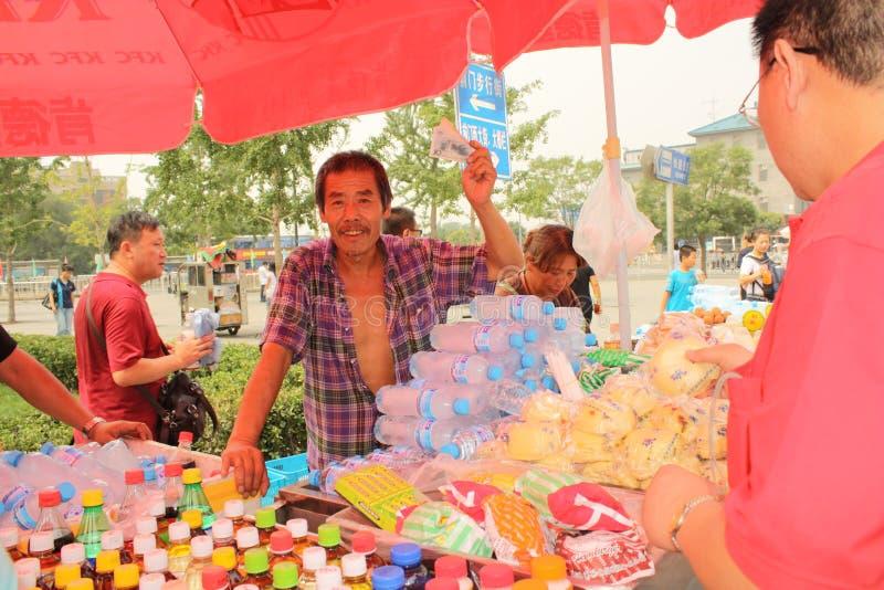 Marchand ambulant à Pékin image libre de droits