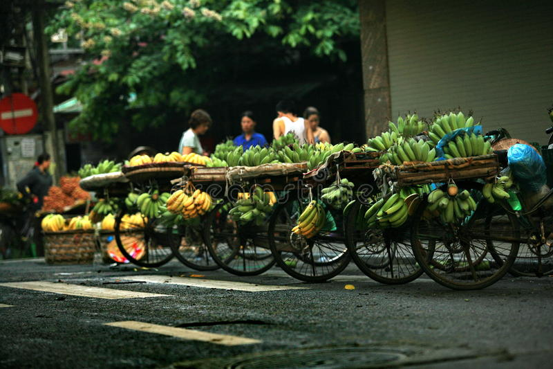 Marchand ambulant de Hanoï image libre de droits