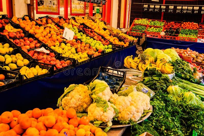 Marchand de légumes Storefront images stock