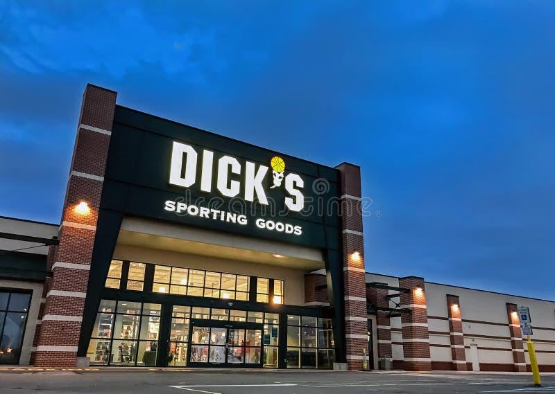 Marchandises sportives du ` s de Dick image libre de droits