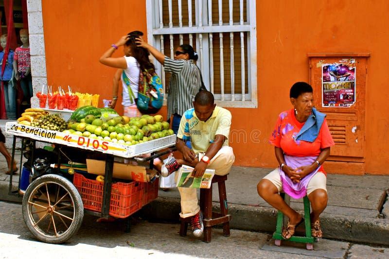 Marchands ambulants, Carthagène, Colombie photographie stock