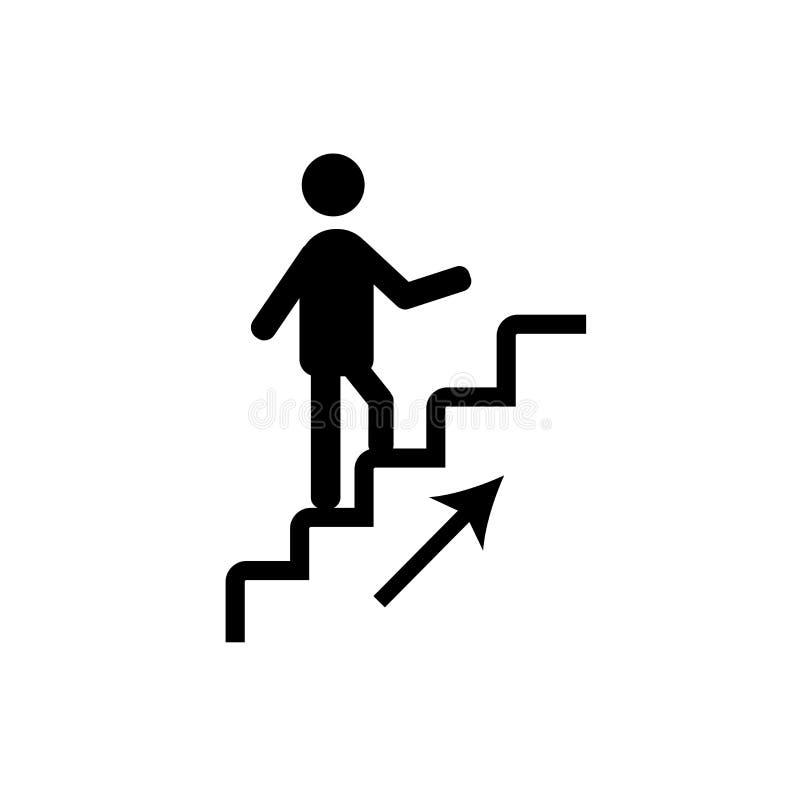 Marchant en bas vecteur d'icône d'isolement sur le fond blanc, Wal illustration stock