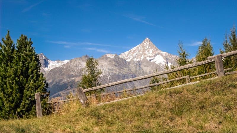 Marchant près des septemberValais en retard de vallée du Rhône, la Suisse image stock