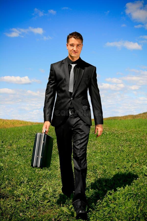 marche d'homme d'affaires photo stock