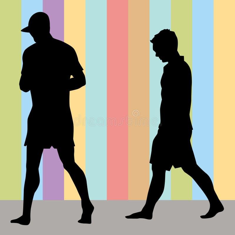 Marche d'hommes illustration stock