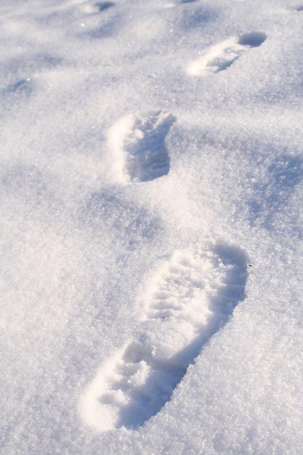 Marche dans la neige images libres de droits