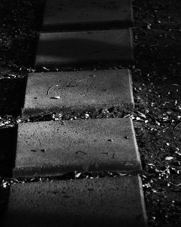 Marche de brique noire et blanche photographie stock