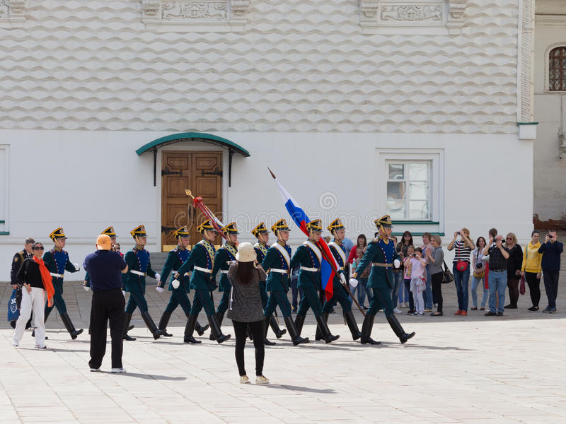 Marche de cadets de Kremlin photo libre de droits