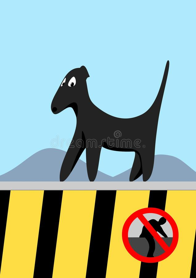 Marche de chien photo stock