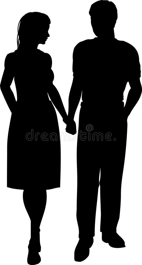 Marche de couples illustration stock